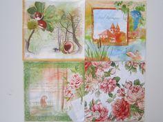"""Servietten Set """"Romantik """"  von Ana Servietten  auf DaWanda.com"""