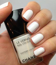 white nails <3