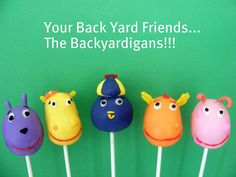 Backyardigans Cakepops - plan on making at least Pablo Penguin for Henry's b-d (maybe with a smaller hat) haha