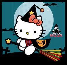 Samhain Halloween, Halloween Art, Holidays Halloween, Happy Halloween, Halloween Decorations, Halloween Cakes, Hello Kitty Imagenes, Hello Kitty Halloween, Miss Kitty