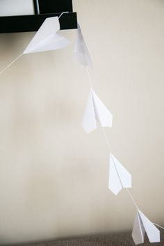 Paper Airplane Garland by collectionsbyknb on Etsy