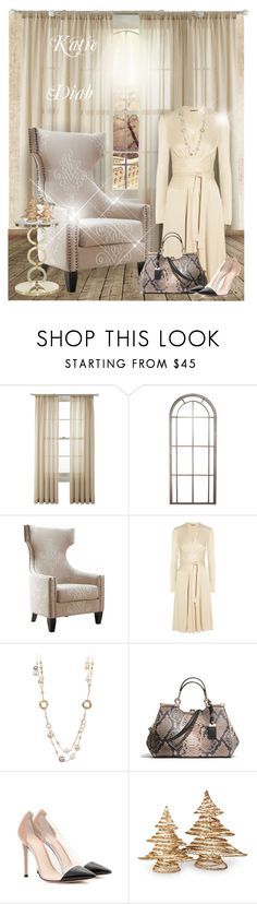 """""""1-11-2017"""" by katiediab ❤ liked on Polyvore featuring Martha Stewart, Silhouette, Issa, Coach, Gianvito Rossi, National Tree Company, gold, set, art and beige"""