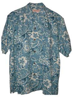 893cbfe5 Tommy Bahama Swirlpool Silk Camp Shirt (Color: Pagoda, Size L) Tommy Bahama