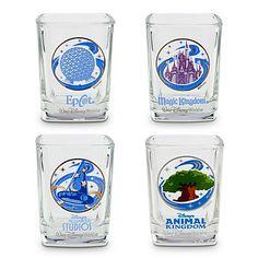Walt Disney World Four Parks Mini Glass Set -- 4-Pc.