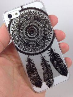 Henna indian Ojibwe Mandala Dream Catcher  iPhone Case