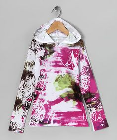 Take a look at this Watercolor Pink Sublimation Hooded Dress - Girls by Happy Kids for Kids on @zulily today!