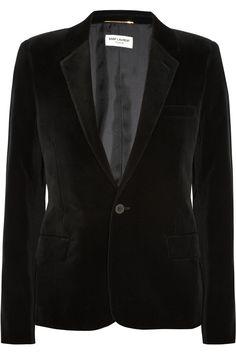 Saint Laurent black velvet #blazer #jacket #style
