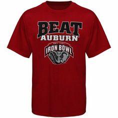 Alabama Crimson Tide Beat Auburn Rivalry T-Shirt #IronBowl