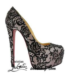 Louboutin Black Lace - Click For More #shoes, #women, https://facebook.com/apps/application.php?id=106186096099420