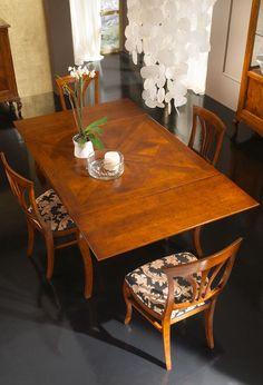 Tavolo impiallacciato in noce nazionale Art.SA 701 | Sedie e Tavoli