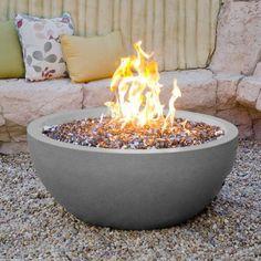 American Fyre Designs 36-Inch Natural Gas Fire Bowl - Smoke : ShoppersChoice.com
