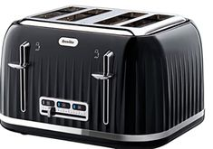 Breville VTT476 Impressions 4-Slice Toaster Black 4 Slice Toaster, Kettle And Toaster Set, Best Waffle Maker, Electric Toaster, Stainless Steel Toaster, Sandwich Toaster, Smoothie Makers, Cord Storage, Lunges
