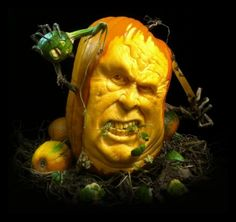 Extreme pumpkin carving...