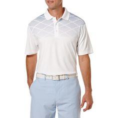 Ben Hogan Performance Chest Diamond Print Short Sleeve Polo Shirt