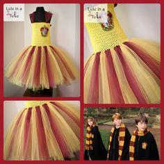 Harry Potter Gryffindor Inspired Tutu Dress. Visit www.facebook.com/LuluinaTutu for more designs