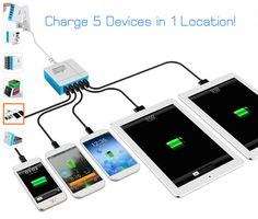 Zap 40W Multiple-Port USB Wall Charger