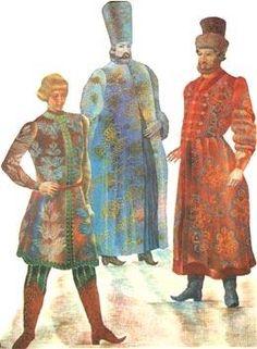 Мужской русский костюм 15 16 века