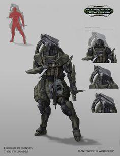 Image result for mech suit concept art
