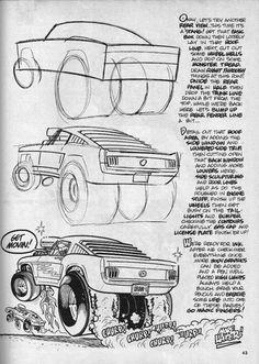 Cartoon Drawing Tips - Drawing On Demand Drawing Lessons, Drawing Techniques, Drawing Tips, Cartoon Car Drawing, Cartoon Art, Car Design Sketch, Car Sketch, Cool Car Drawings, Art Drawings