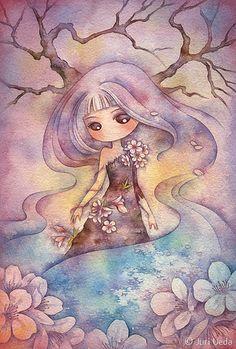 Juri Ueda: hanaakari | Flickr - Photo Sharing! Watercolor on paper. More at: http://www.flickr.com/photos/juriu/sets/72157600766150677/