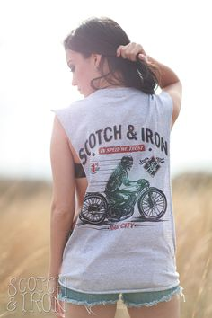 RAD CITY. A bobber motorcycle inspired design by Scotch and Iron.