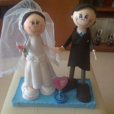 Mis segundos fofuchos novios/My second fofucho dolls just married