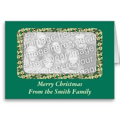Christmas Photo Frame Card. Add your own photo and words