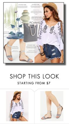 """""""//Romwe(summer style)set 1.//"""" by fahirade ❤ liked on Polyvore"""