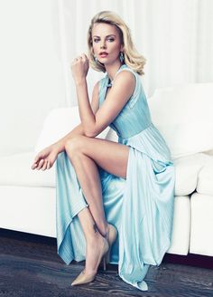 Charlize Theron elegance in blue