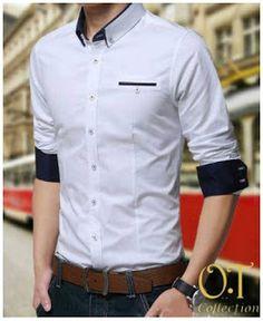 Jual Baju Distro Kemeja Slimfit http://distrogrosirbandung.blogspot.com Tersedia Warna Putih