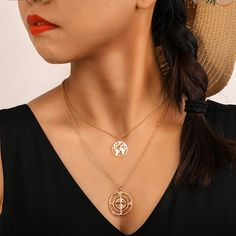 Can be worn with other necklaces to add a different touch chain length : pendant size : QUOTE : World Map Necklace, Moon Necklace, Pendant Necklace, Lotus Necklace, Necklace Packaging, Engagement Party Gifts, Gold Map, Gold Necklace Simple, Necklace Extender