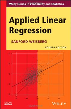 Amazon.com: Applied Linear Regression (0001118386086): Sanford Weisberg: Books