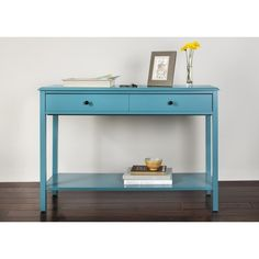 Threshold™ Windham Console Table. I love the pop of color the blue brings. Not sure it would fit into my living room or family room... But maybe my sunroom!