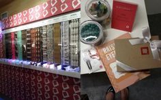 Birchbox Sample Stop at Fashion Week. It was a beauty sampling candy shop = love!