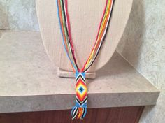 Gorgeous 30 inch long handmade Native by AnnesBeadedJewelry Seed Bead Necklace, Seed Beads, Tassel Necklace, Native American Seed, Nativity, Pendant, Silver, Red, Handmade