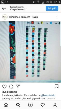 2 Instagram, Bead Crochet, Beaded Jewelry, Diy And Crafts, Beads, Bracelets, Model, Beaded Crochet, Chain