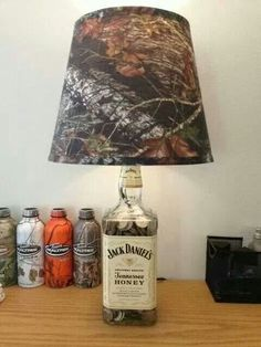 We have alot of captain morgan bottles to do this with:)