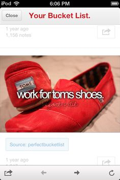 Work for toms shoes