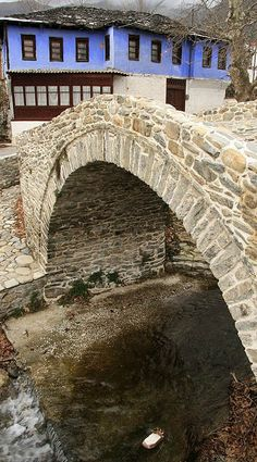 Moustheni Kavala, Macedonia Hellas Bridges Architecture, Santorini Villas, Myconos, Old Bridges, Parthenon, Florence Italy, Macedonia, Water Features, Monuments