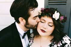 That make up and flower crown...>>> Magical New Orleans Wedding