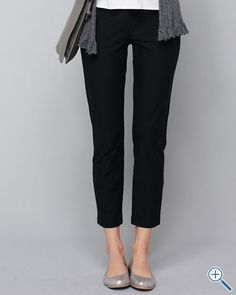 Eileen Fisher Stretch-Crêpe Slim Ankle Pants.The fabric to move in. Rolls up in a suitcase, goes from day to dinner. The pieces that help you get dressed in five minutes.