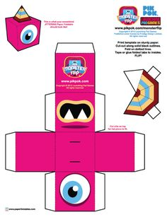 Blog_Paper_Toy_paper_toys_Monster_Flip_Jittering_template_preview