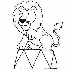 Coloriage Lion Cirque a Imprimer Gratuit