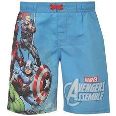 7461aed36457 Boys Marvel Avengers Swim Shorts