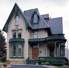 Gothic Revival Victorian House - Victoriana Magazine (www.victoriana.com)