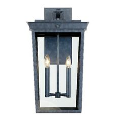 Crystorama Belmont Outdoor Wall Light in Graphite Outdoor Wall Lantern, Outdoor Wall Lighting, Exterior Lighting, Outdoor Walls, Wall Lights, Ceiling Lights, Visual Comfort, Glass Panels, Candle Sconces