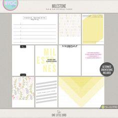 Milestone | Printable Journaling Cards | One Little Bird