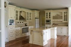 English Country. Traditional classic french country kitchen white