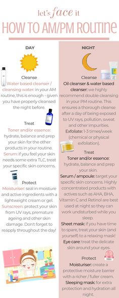 K Beauty Tips: How Korean Skin Care Routine Day and Night - . - K Beauty Tips: How Korean Skin Care Routine Day and Night - Face Skin Care, Diy Skin Care, Korean 10 Step Skin Care, Korean Beauty Tips, Asian Beauty, Skin Care Routine For 20s, K Beauty Routine Steps, Night Beauty Routine, Korean Skincare Routine