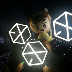 #EXO #exolightstick #goods Exo Merch, Derp, Chanyeol, Planets, Fan, Christmas Ornaments, Holiday Decor, Girls, Photos